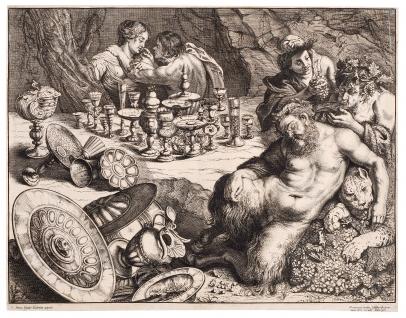 van de Wyngaerde, Bacchus and Drunken Silenus (after Rubens)