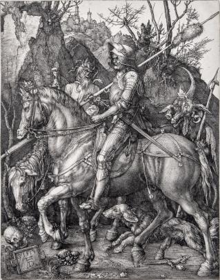 Albrecht Dürer, Knight, Death and the Devil