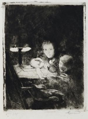 Albert Besnard, Sous le Lampe