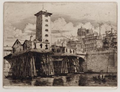 Charles Meryon, La Pompe Notre-Dame, Paris