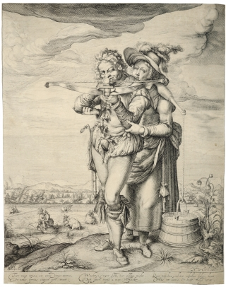 de Gheyn, the Archer and the Milkmaid