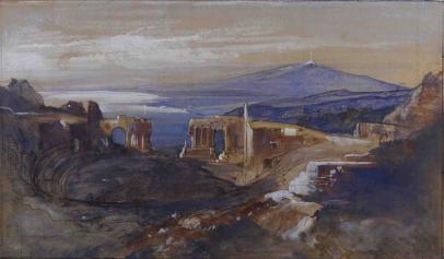 Edward Lear, The Greek Theater at Taormina