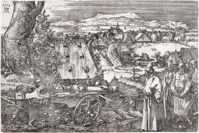 Landscape with a Large Cannon