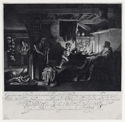 Goudt, Jupiter and Mercury in the House of Philomon and Baucis