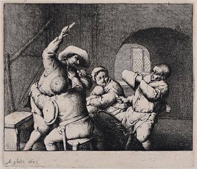 van Ostade, The Peasants' Quarrel