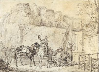 Carle Vernet, Roadside Shrine