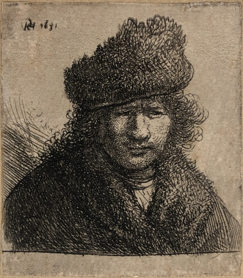 Self Portrait in a Slant Fur Cap: Bust