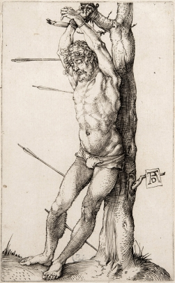 St. Sebastian Bound to a Tree