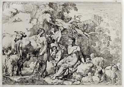 A Shepherd Visiting Four Nymphs