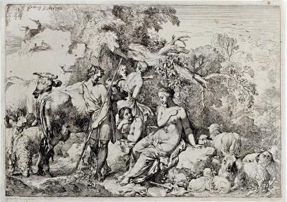 A Shepherd Visiting Four Nymphs