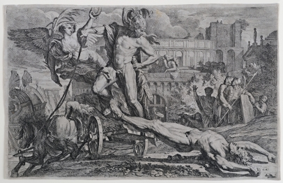 Achilles Dragging Hector's Corpse Around the Walls of Troy
