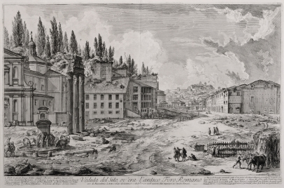 Veduta del Sito, ov'era l'antico Foro Romano