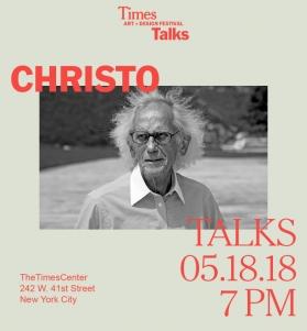 CHRISTO at TimesTalks Art + Design Festival
