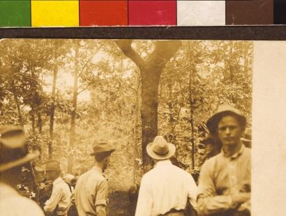 "Ken Gonzales-Day, ""Marietta, GA (Leo Frank), 1915,"" 2013, Chromogenic print from the Erased Lynchings series"