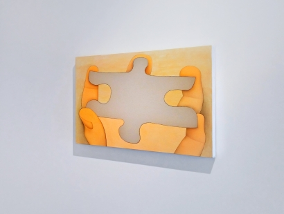 """Alexi Worth, Installation View of """"New Paintings,"""" 2015"""