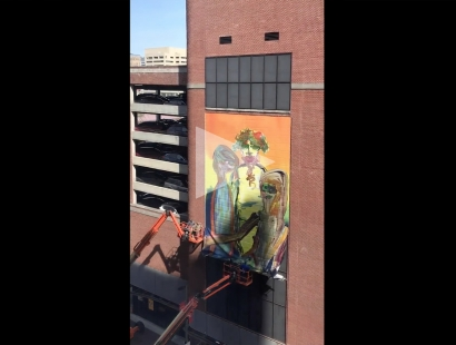 EDIE BEAUCAGE: Timelapse of Giant Characters Banner
