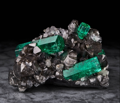 Magnificent Emeralds: Fura's Tears Emerald on Calcite