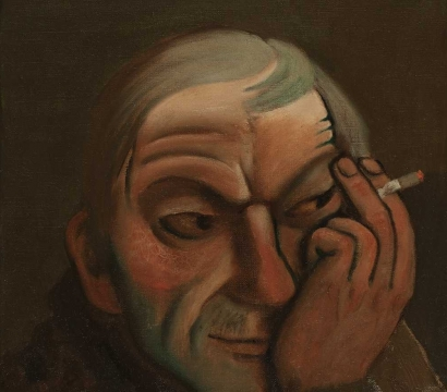 Ivan Lubennikov L'homme a la belomor peinture painting