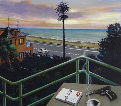 Sergio Ceccotti Sguardo sul litorale peinture painting