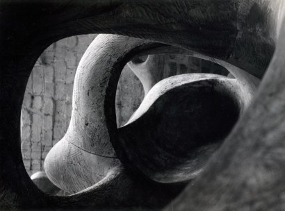 Henry Moore | Detail of Reclining Figure (Internal and External Forms), 1953 | Bruce Silverstein Gallery