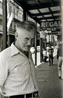 Frank Paulin - Man with Cigar, 1951 Gelatin silver print, printed c. 1970s   Bruce Silverstein Gallery