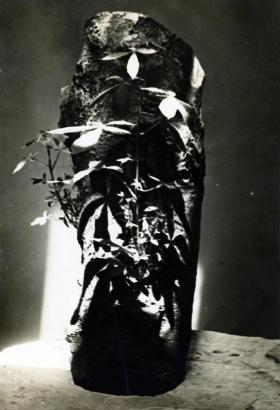 Constantin Brâncuşi - Trunk of a Chestnut Tree in the Studio, c. 1934. Gelatin silver print, printed c. 1934, ; Bruce Silverstein Gallery