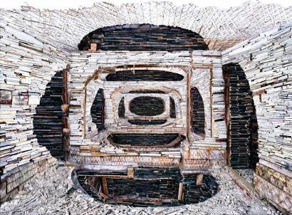Marjan Teeuwen- Destroyed House Krasnoyarsk 1, 2010 | Bruce Silverstein Gallery