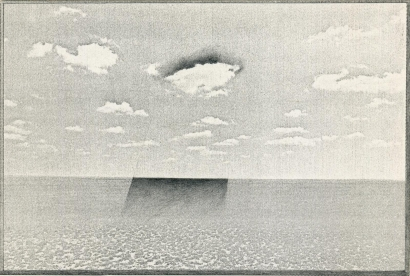 John Wood - Untitled, Landscape Series, 1970 Xerox and graphite mounted to board | Bruce Silverstein Gallery