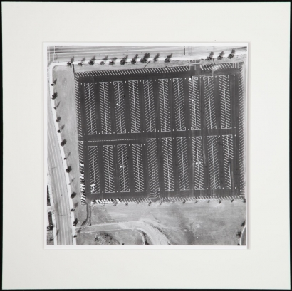 Ed Ruscha - Untitled, fromParking Lots, 1967-69 Gelatin silver print mounted to board | Bruce Silverstein Gallery