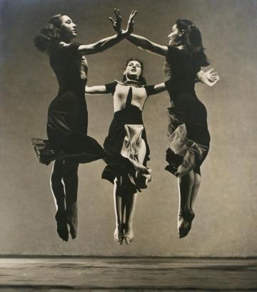 Barbara Morgan - Martha Graham Group - Celebration, 1934 Gelatin silver print mounted to board, printed c. 1934 ; Bruce Silverstein Gallery