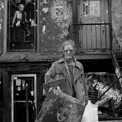 Rosalind Fox Solomon - East Village Artist, 1986 Gelatin silver print   Bruce Silverstein Gallery
