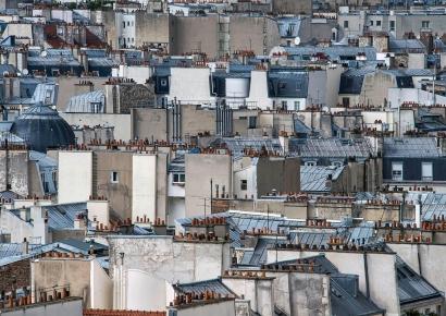 Michael Wolf - Paris Rooftops #17, 2014 Digital C-Print 48 x 68 inches ; Bruce Silverstein Gallery