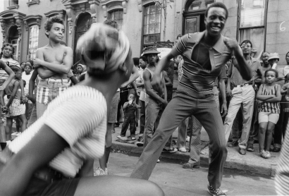 Chester Higgins - Harlem Block Party, 1973  | Bruce Silverstein Gallery