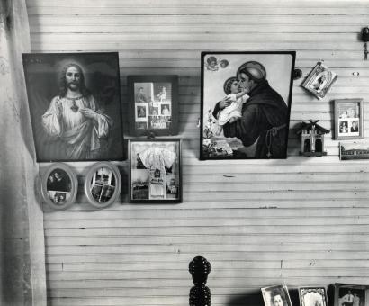 Walker Evans - Bedroom, Shrimp Fisherman's House, Biloxi Mississippi, 1945 | Bruce Silverstein Gallery