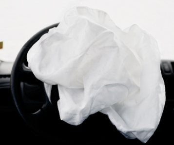 Nicolai Howalt - Car Crash Studies, Airbags #8, 2009 Digital C-print mounted to aluminum ; Bruce Silverstein Gallery