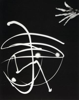 Barbara Morgan - Pure Energy and Neurotic Man, 1940 Gelatin silver print mounted to board | Bruce Silverstein Gallery