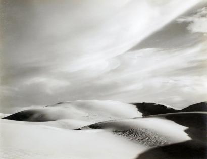 Edward Weston- Dunes, Oceano, 1936 Gelatin silver print mounted to board, printed c. 1951-52   Bruce Silverstein Gallery