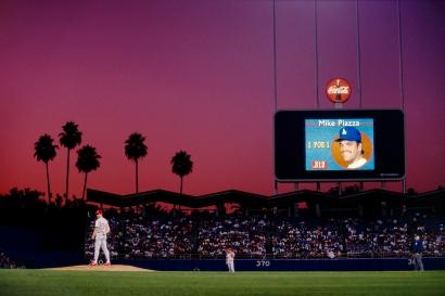 Walter Iooss, Jr. - Dodger Stadium, Los Angeles, CA, 1993  | Bruce Silverstein Gallery
