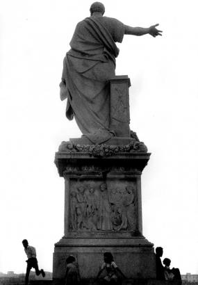 Robert Frank - Back of Statue, Livorno, Italy,1961   Bruce Silverstein Gallery