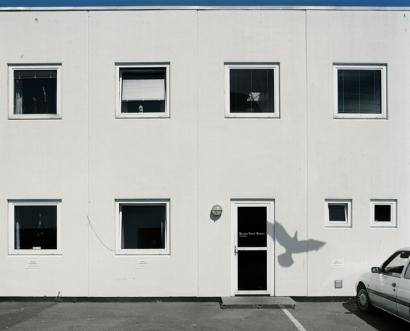 Nicolai Howalt - Six Seahawks and One Building #2, 2009 Digital C-print ; Bruce Silverstein Gallery