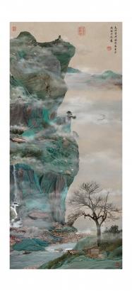 Yao Lu - Green Cliffhanger, 2009  | Bruce Silverstein Gallery