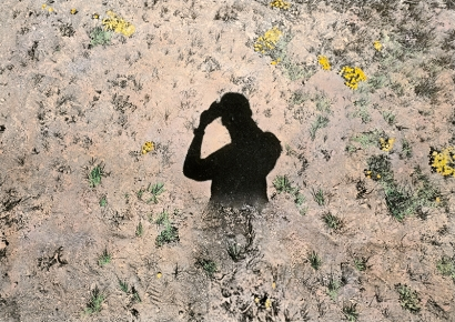 Brea Souders - Untitled (from Vistas), 2019 Unique archival pigment print with watercolor   Bruce Silverstein Gallery