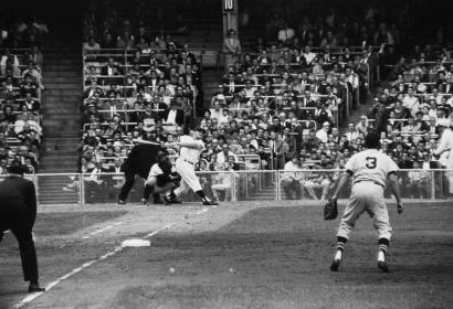 Walter Iooss, Jr. - Roger Maris Hits His 61st Home Run, Bronx, NY, 1961  | Bruce Silverstein Gallery