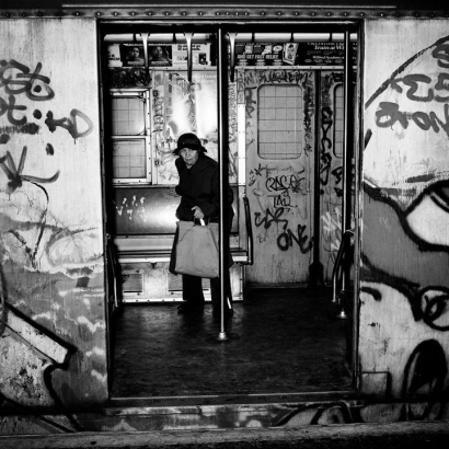 Rosalind Fox Solomon - Graffiti, 1984 Gelatin silver print   Bruce Silverstein Gallery