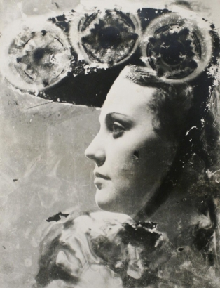 Dora Maar - Profile Portrait with Glasses and Hat, c. 1930   Bruce Silverstein Gallery
