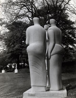 Henry Moore | Three Standing Figures, 1947-48 | Bruce Silverstein Gallery