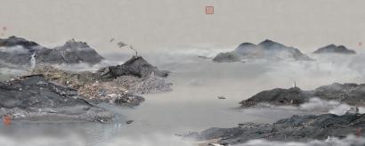Yao Lu - Fishing Boats Berthed by the Mount Yu, 2008 | Bruce Silverstein Gallery