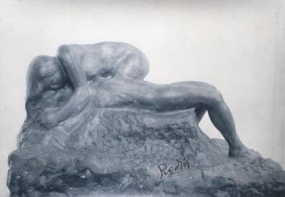 Auguste Rodin - La Mort d'Adonism modèle d'après le marbre, c. 1903-13 | Bruce Silverstein Gallery