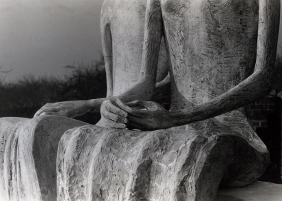 Henry Moore | Detail of Two Seated Figures (King & Queen), 1953 | Bruce Silverstein Gallery