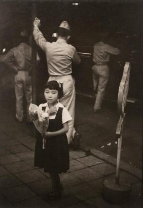 Werner Bischof - On the Ginza, Tokyo, Japan, 1951 Gelatin silver print mounted to board   Bruce Silverstein Gallery
